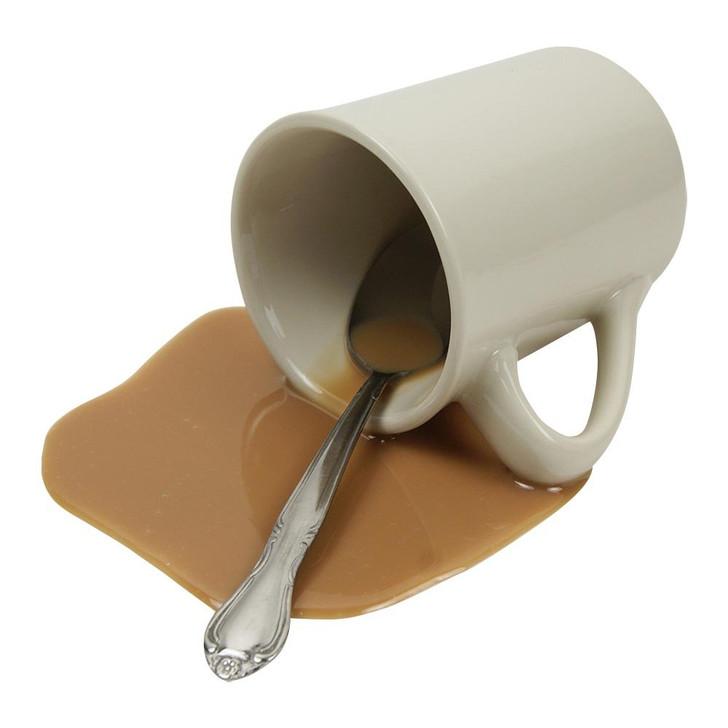 Spilled White Coffee Mug