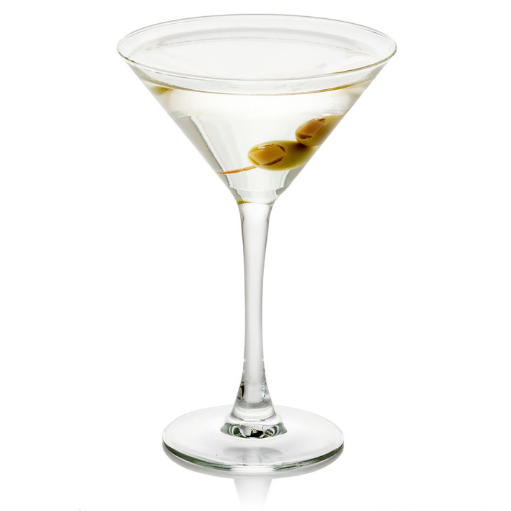 Martini with Olives in Glass