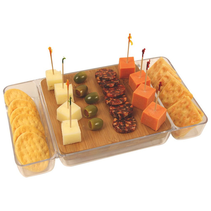 Cheese, Sausage and Crackers Tray