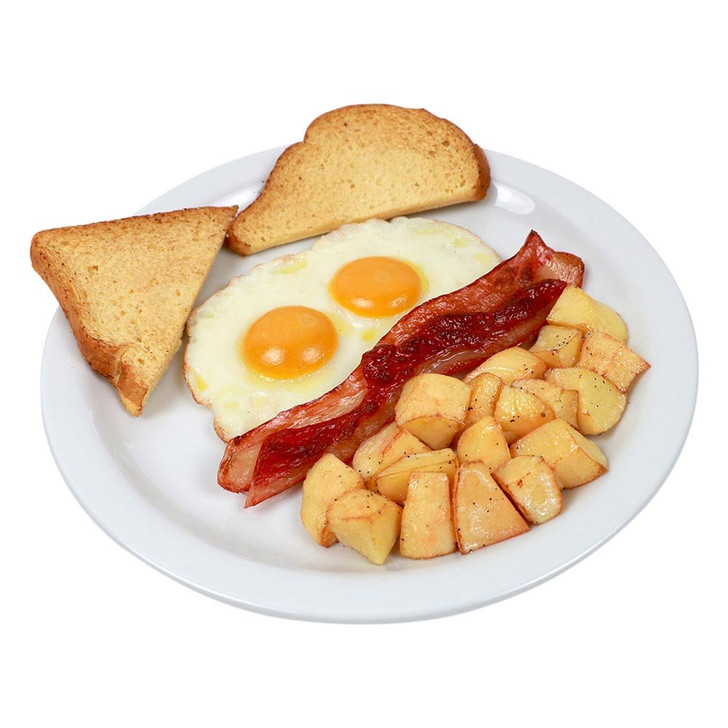 Deluxe Breakfast Bacon & Eggs Plate