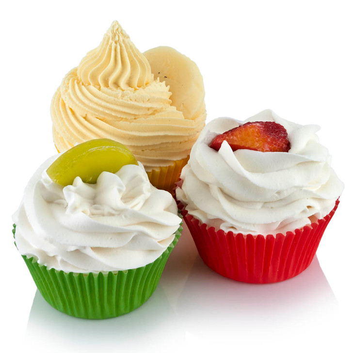 Assorted Fruit Cupcakes Set of 3
