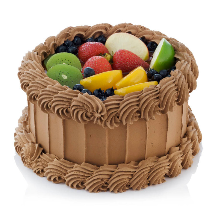 Cake - Chocolate Mocha With Fruit Topping