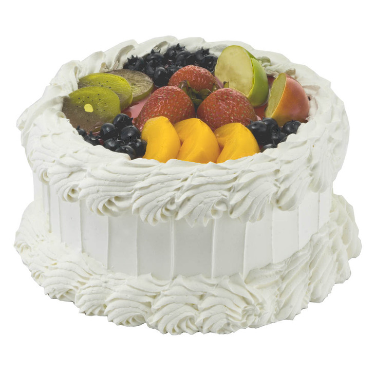 Cake - Vanilla With Fruit Topping
