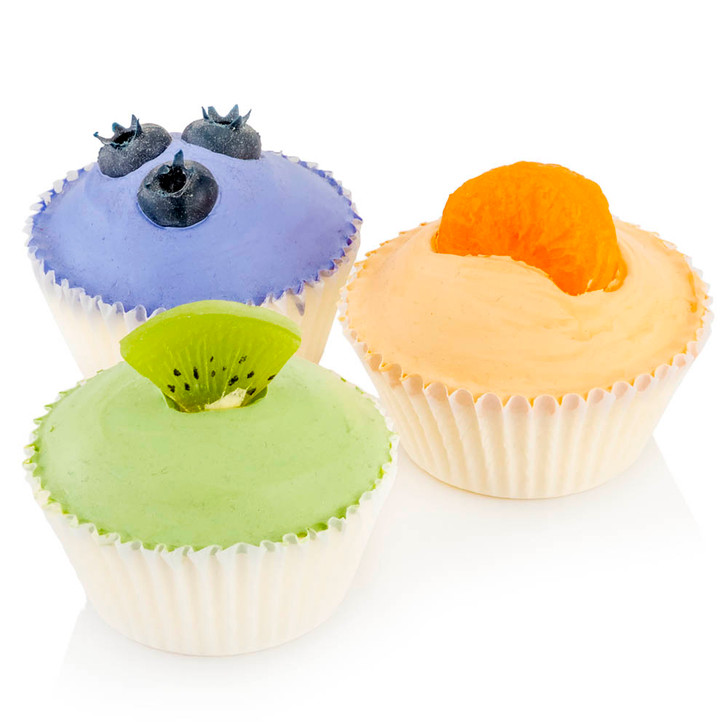 Cupcake - Assorted Fruit - 3 Pk