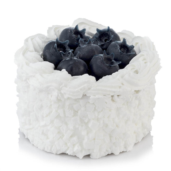 Small Gourmet White Cake with Blueberries