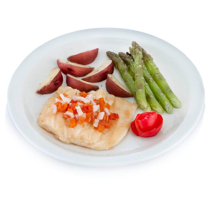 Fillet of Sole Oreginata Dinner Plate