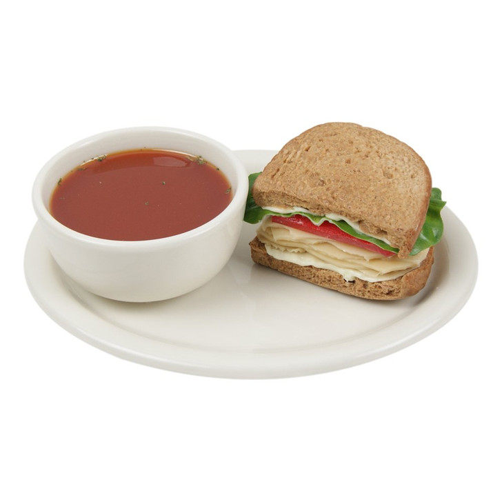 Half Turkey Sandwich with Tomato Soup