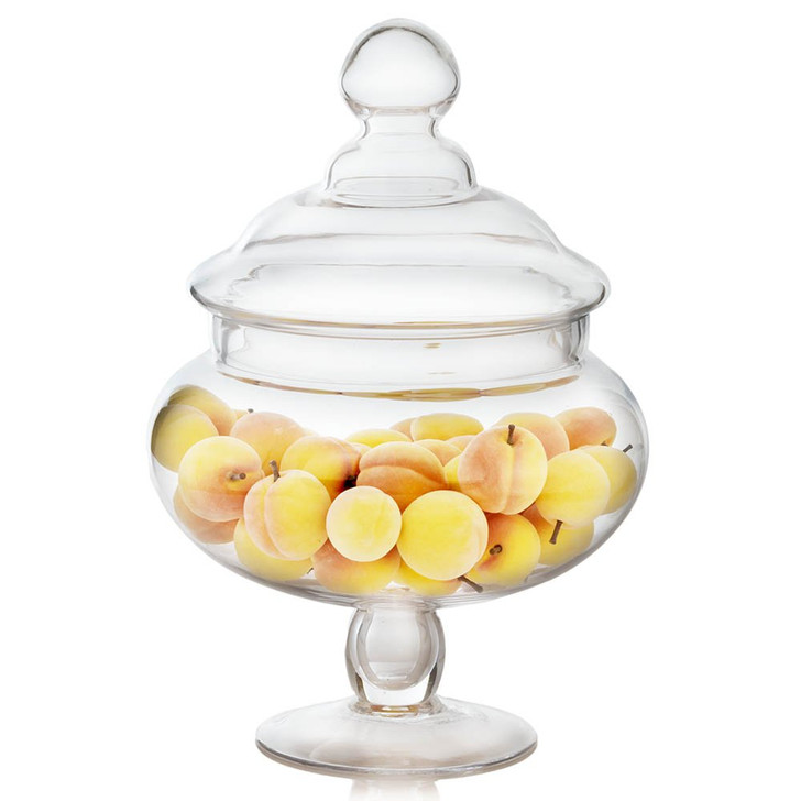 Mini Peaches In Glass Apothecary Jar