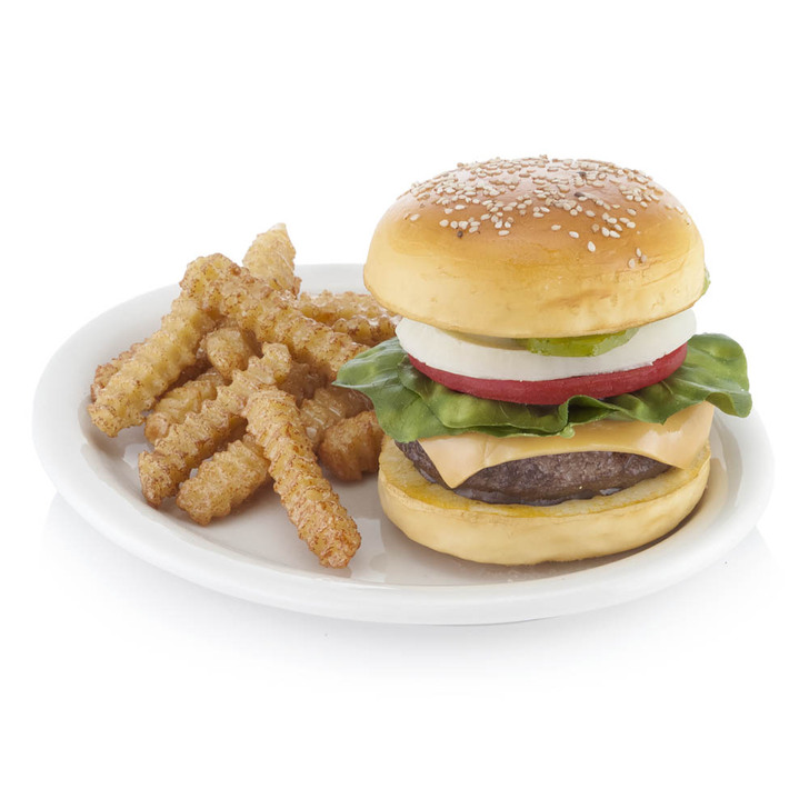 Deluxe Cheeseburger Plate