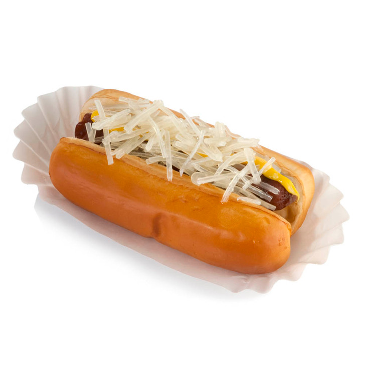 Hot Dog with Mustard and Sauerkraut