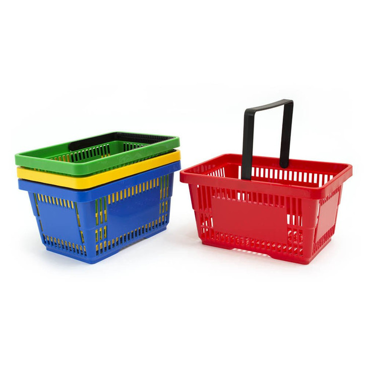 SET OF 8 BASKETS ASSORTED COLOURS