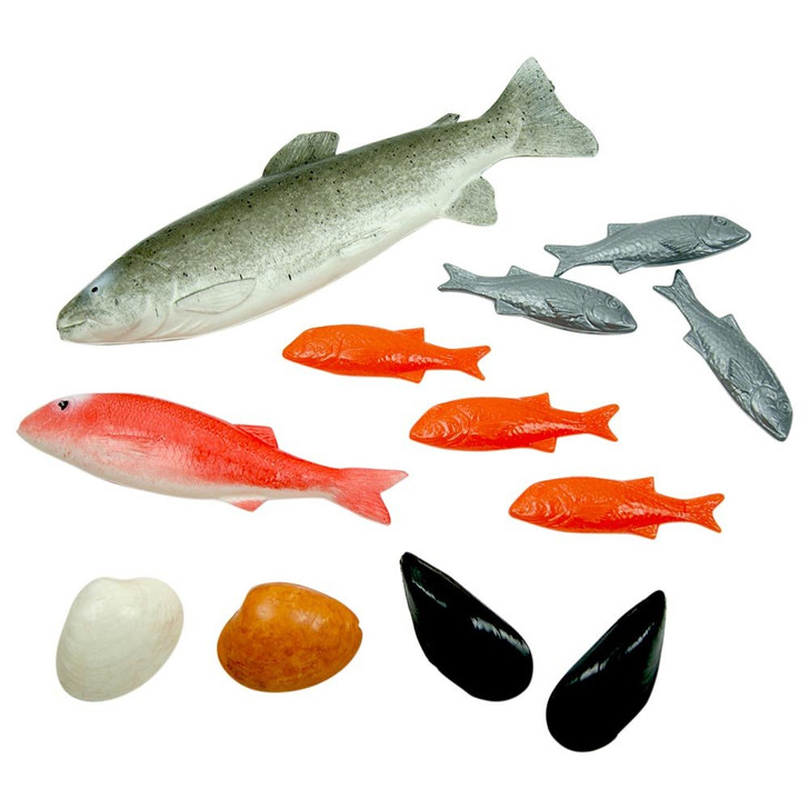 BAG OF 12 ASSORTED PLAY FISH