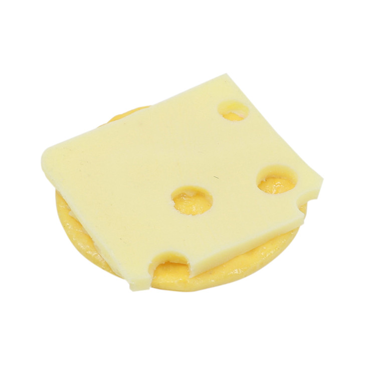 Cracker with Swiss Cheese