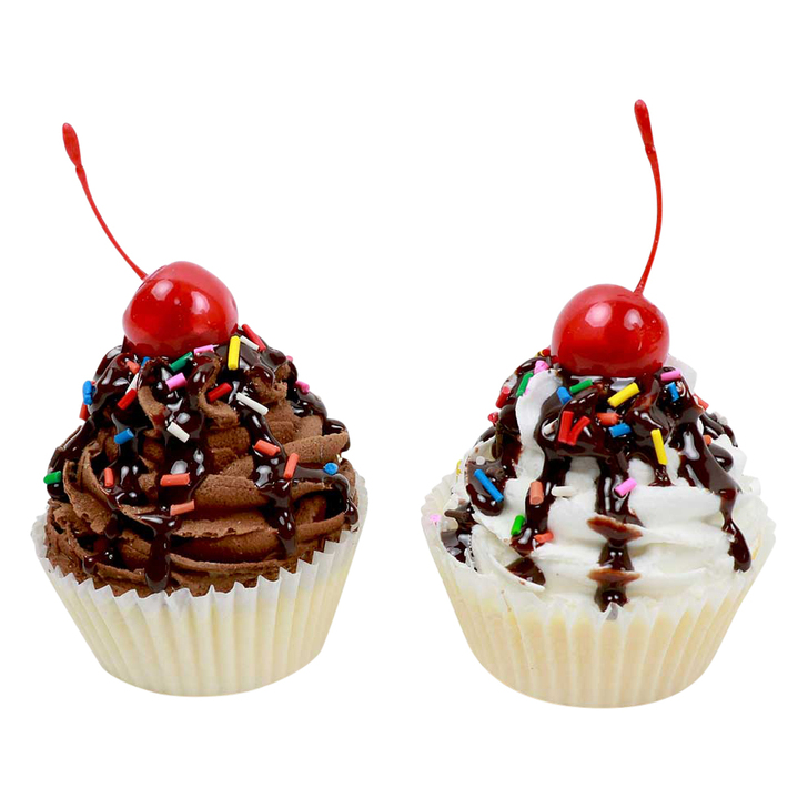 Deluxe Chocolate & Vanilla Cupcakes