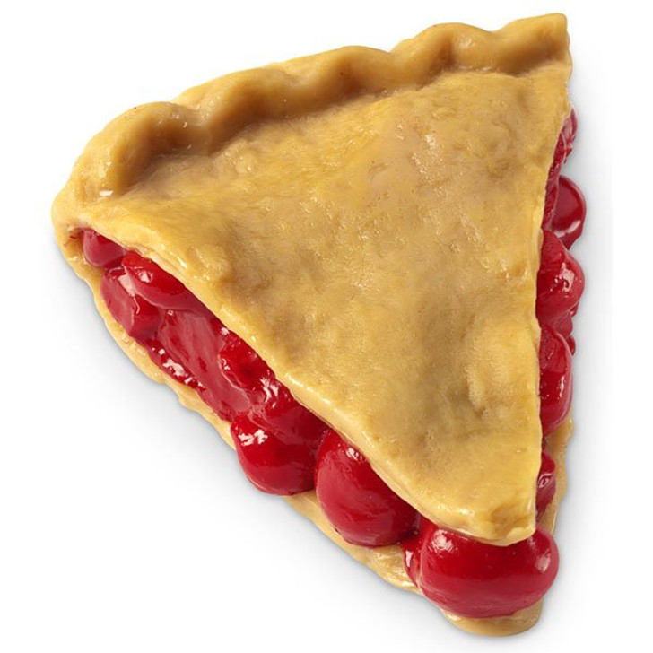 Fake Cherry Pie Slice