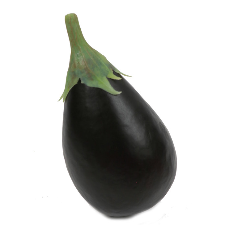 Fake Globe Eggplant with Stem