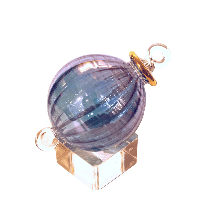 Crystalline Blue Ornament with crystal display cube