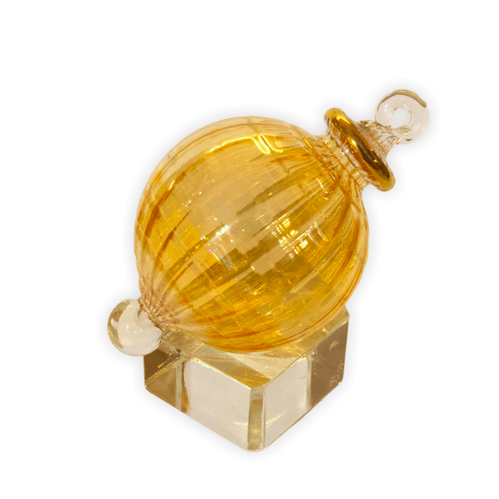 Crystalline Luster Gold Ornament crystal cube display stand