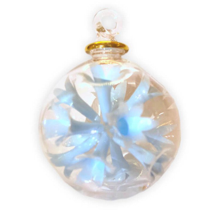 Tulip Large Baby Blue Glass Ornament