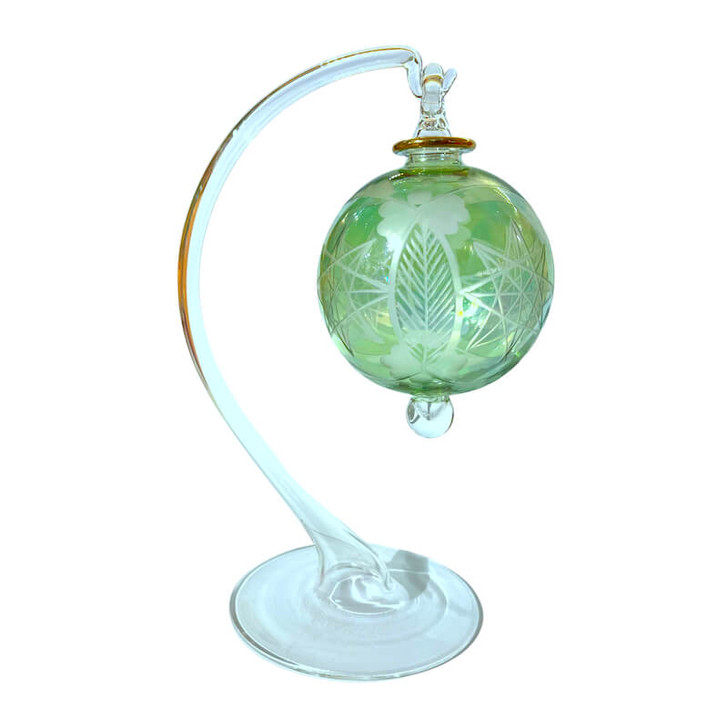 Etched Glass Ornament Display Stand