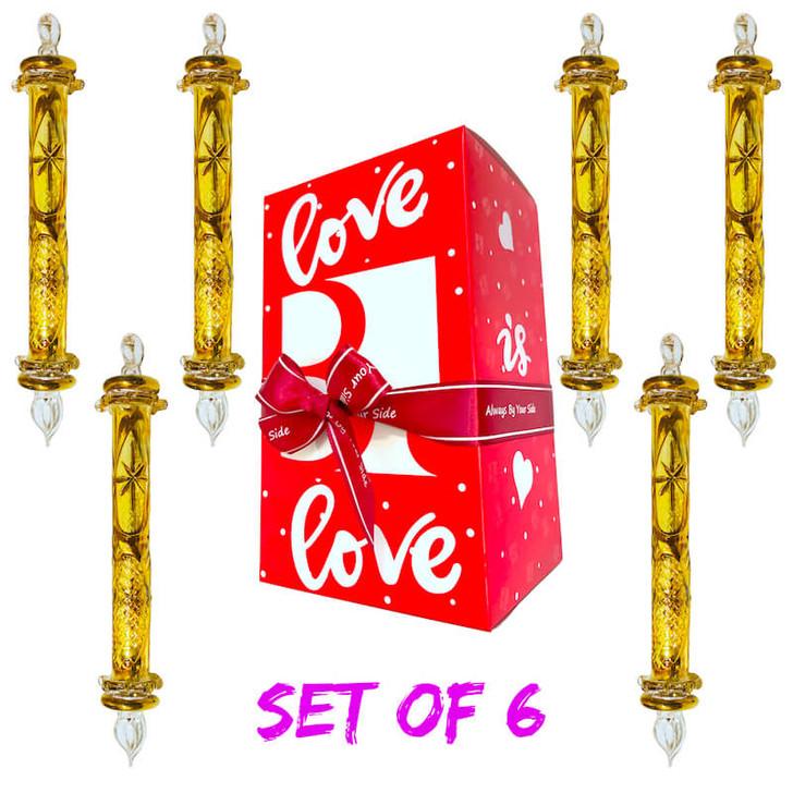 Sceptre Gold Glass Ornament Set of 6
