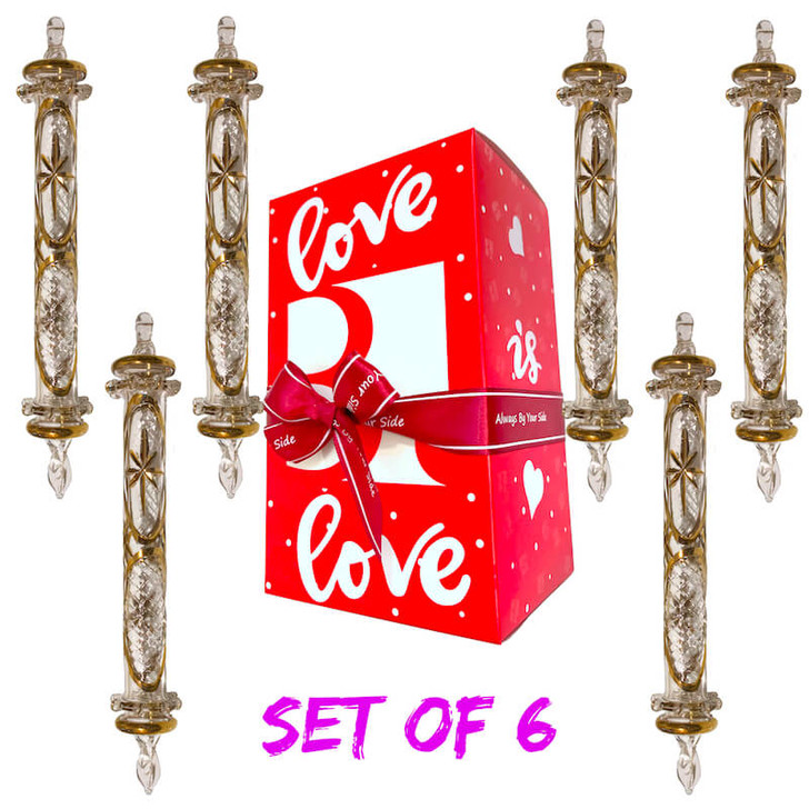 Sceptre Clear Glass Ornament Set of 6