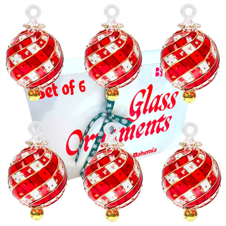 Infinity Red Ornament Set of 6