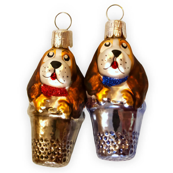 Doggies in a thimble set