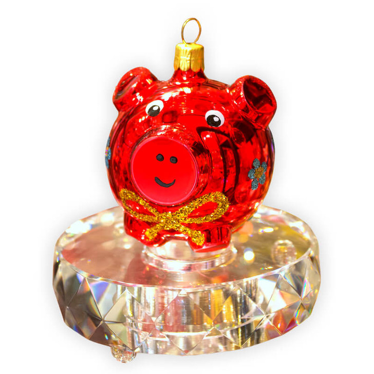 Rosie the Pig with Crystal Base