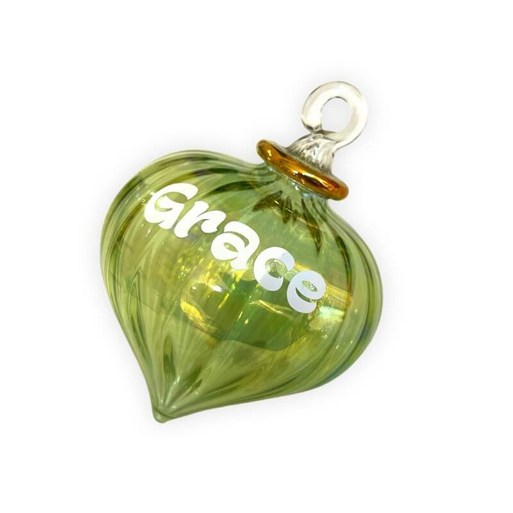 Personalised Ornament Mint Green Onion