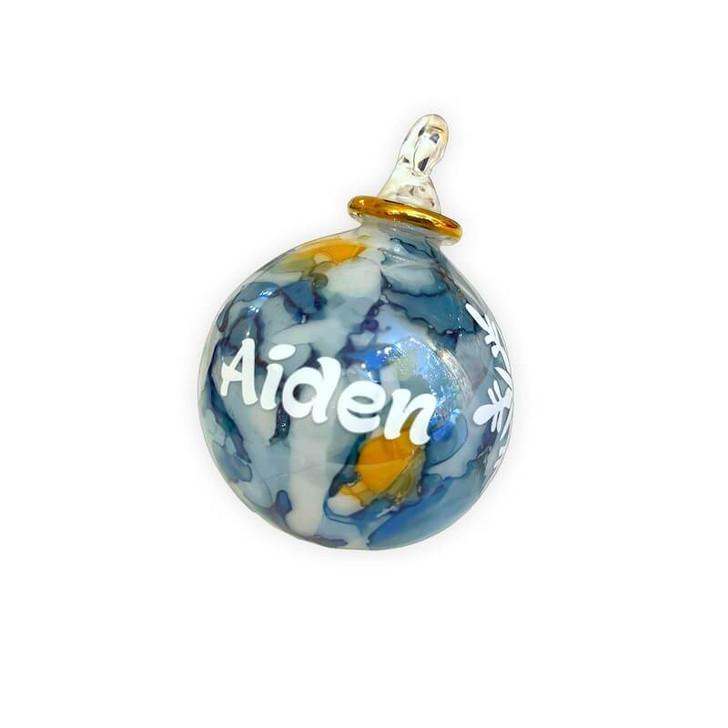 Personalised Ornament Blue Marble