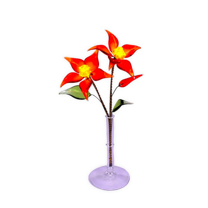 Crystal Flower Small Red