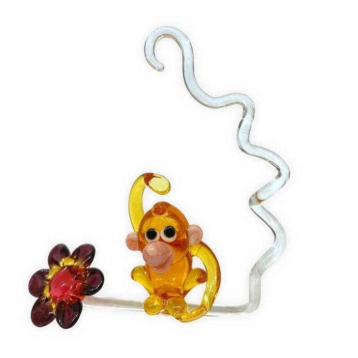 Flower Monkey on a Swing Set