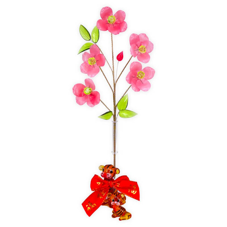Crystal Flower Cherry Blossom with Tiger Set