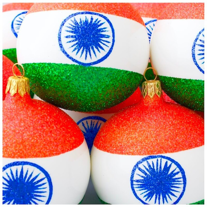 India Flag Ornament Bullarum