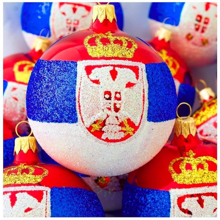 Serbia Flag Ornament Bullarum