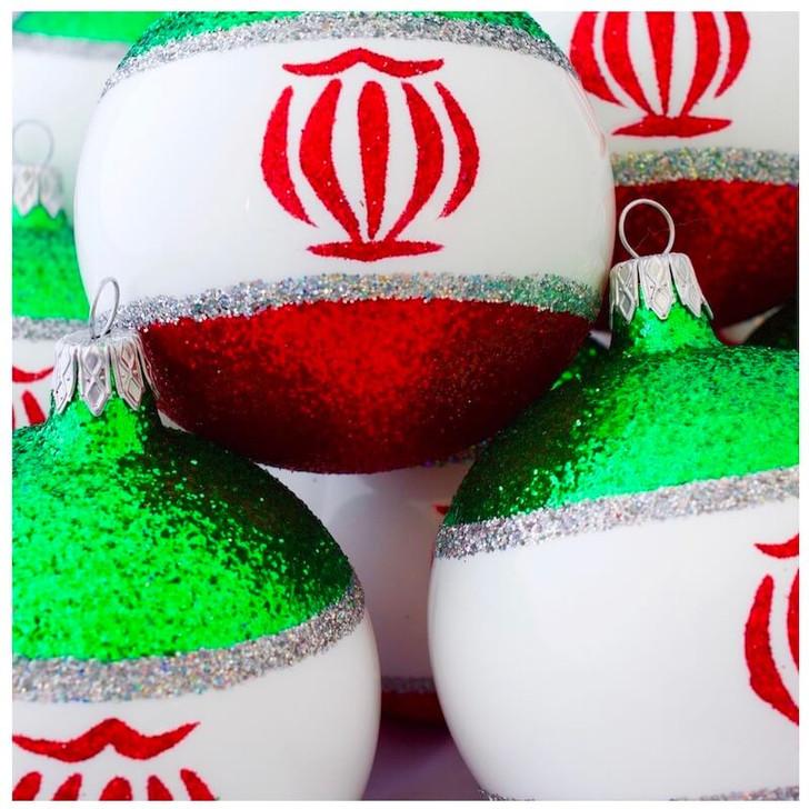 Iran Flag Ornament Bullarum