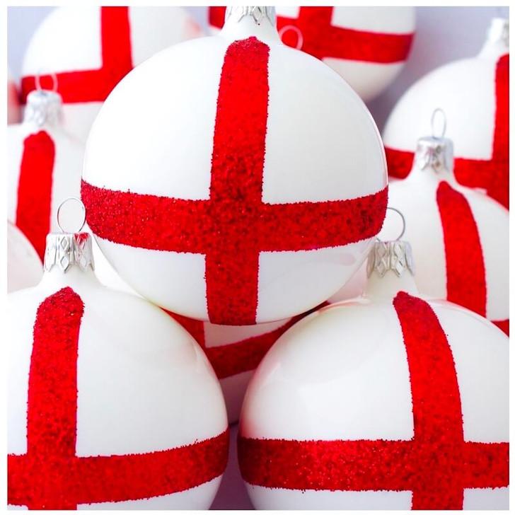 England St Georges Cross Flag Ornament Bullarum