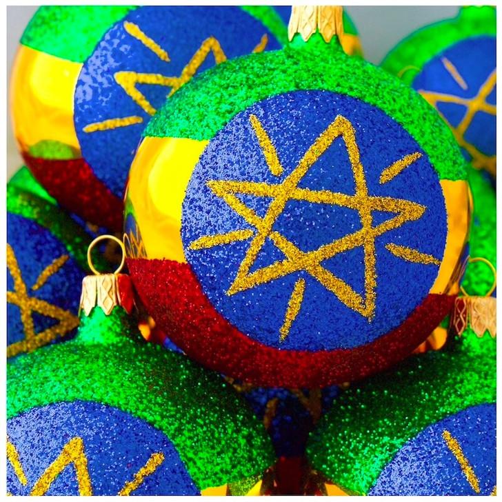 Ethiopia Flag Ornament Bullarum