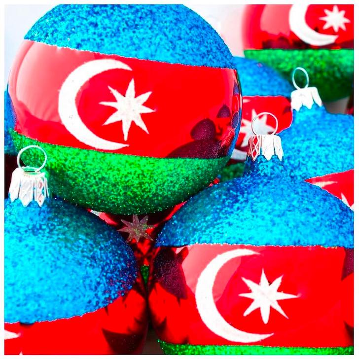 Azerbaijan Flag Ornament Bullarum