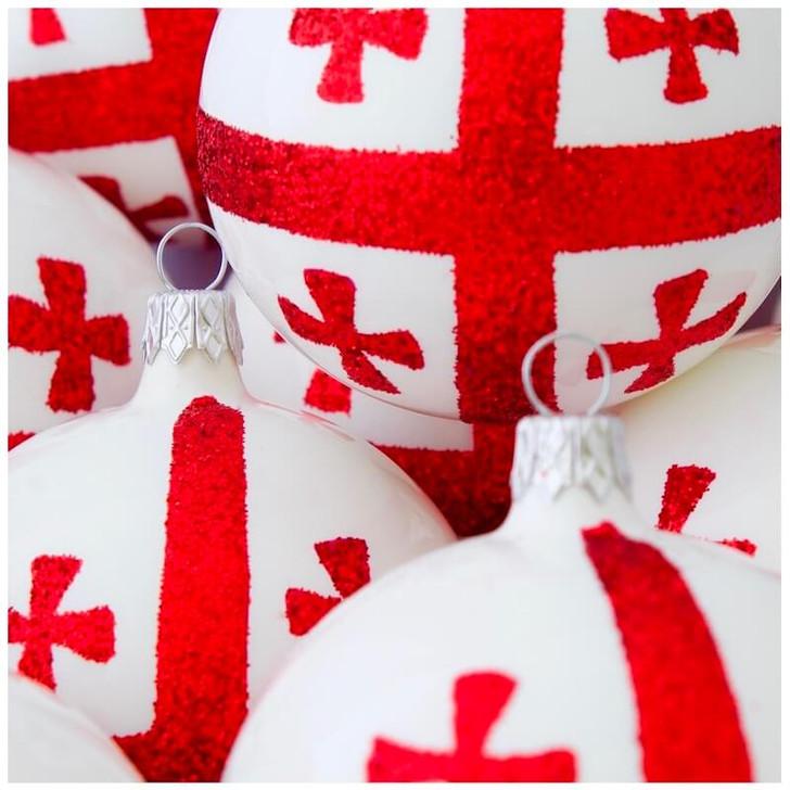 Georgia Flag Ornament Bullarum