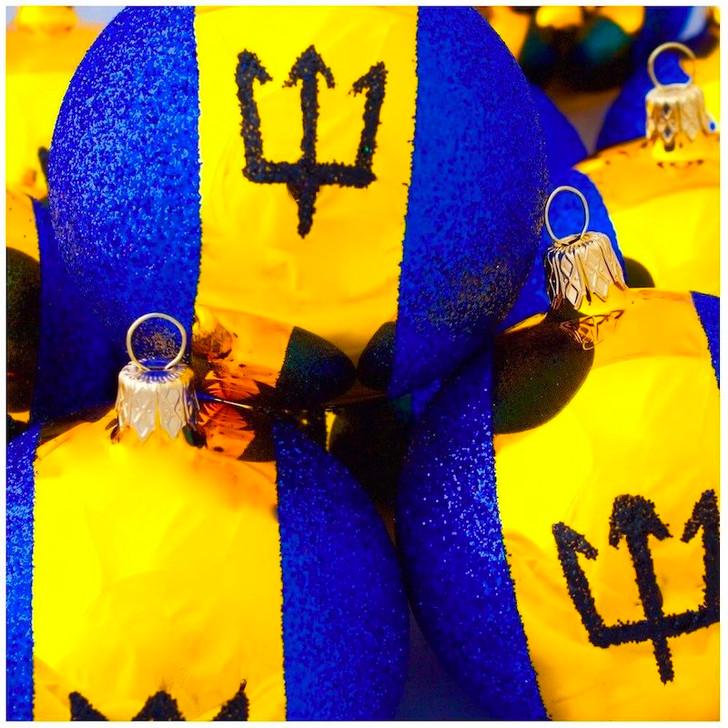 Barbados Flag Ornament Bullarum