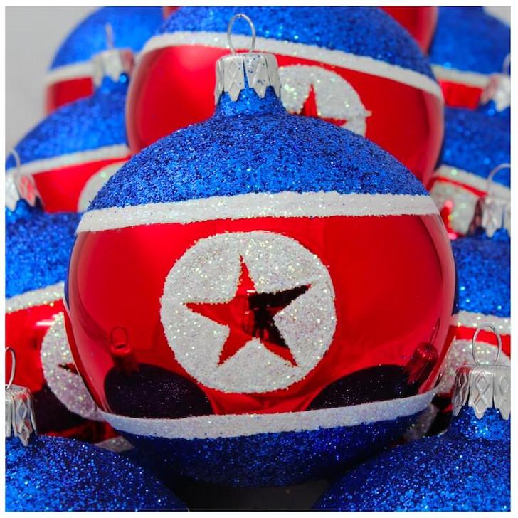 North Korea Flag Ornament Bullarum
