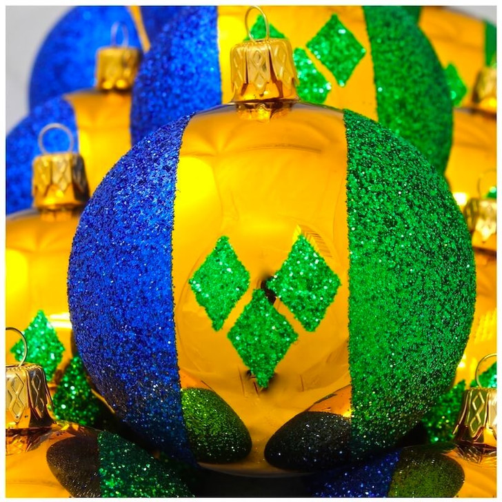 St Vincent & Grenadines Flag Ornament Bullarum