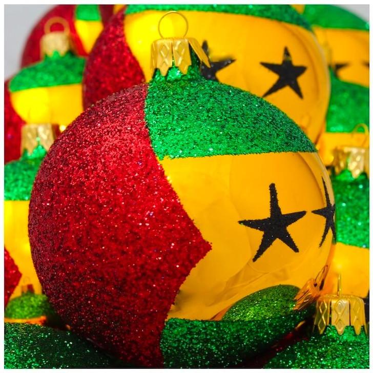 Sao Tome and Principe Flag Ornament Bullarum