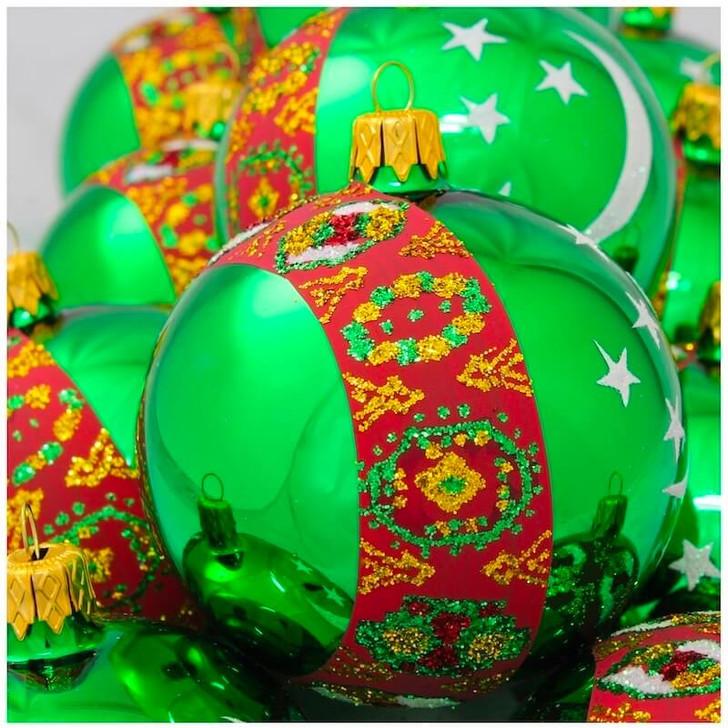 Turkmenistan Flag Ornament Bullarum