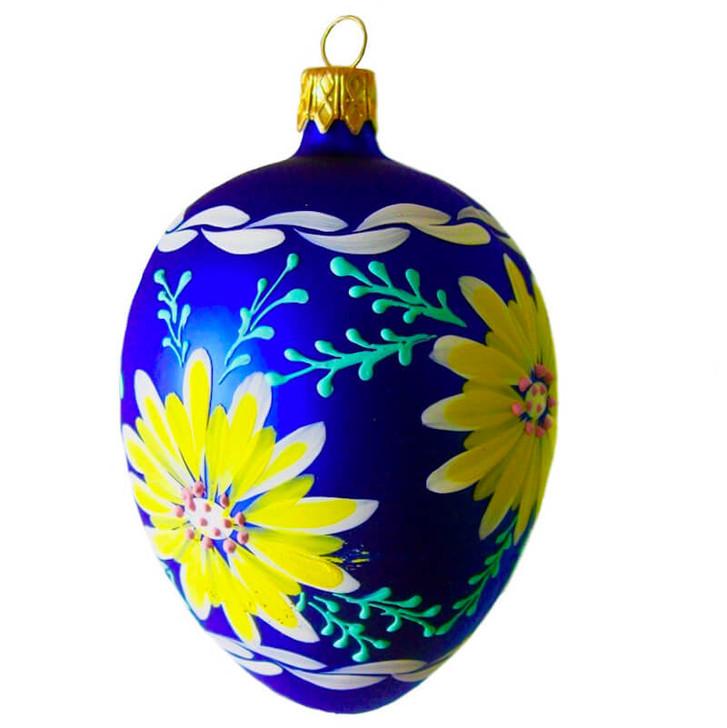 Glass Egg Ornament Azur Bullarum