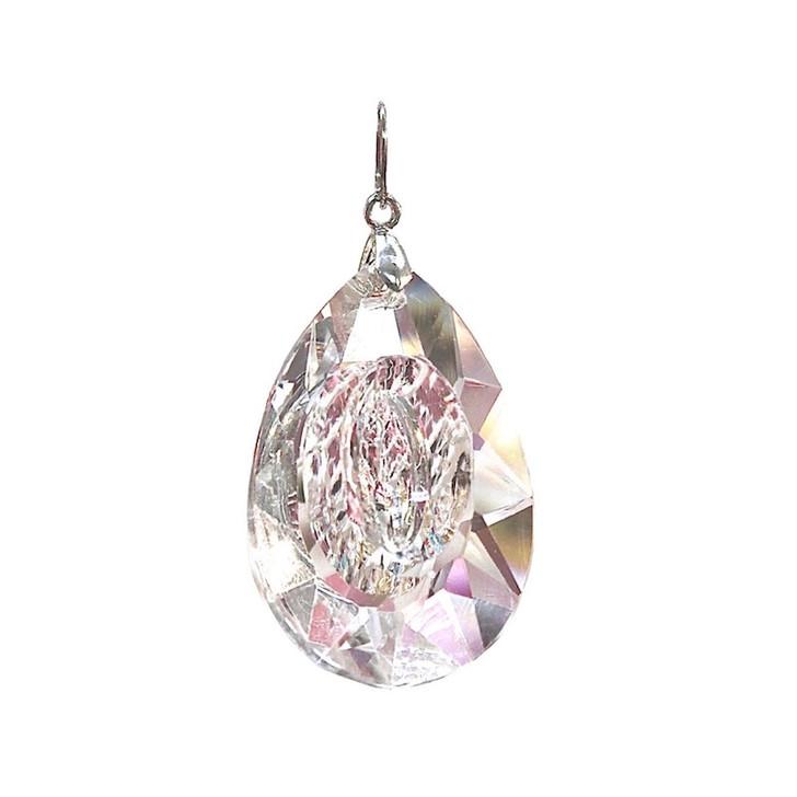 Crystal pendant -  Almond Cut