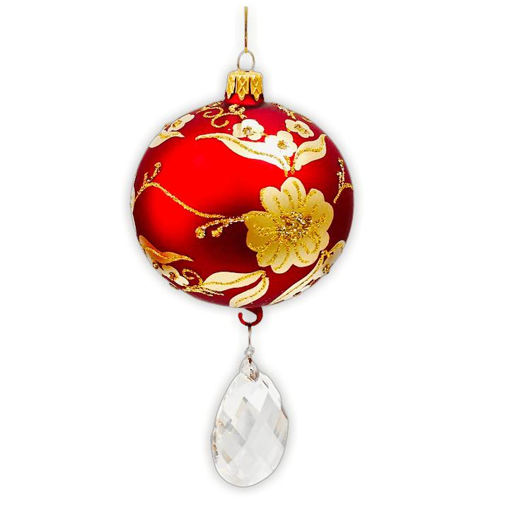 Vintage Glass Ornament with crystal pendant Bullarum