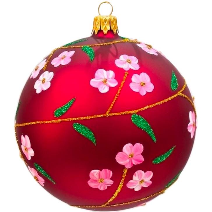 Cherry Blossom Glass Ornament Large